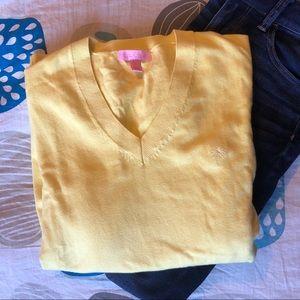 Lilly Pulitzer Palm Tree V-Neck Sweater